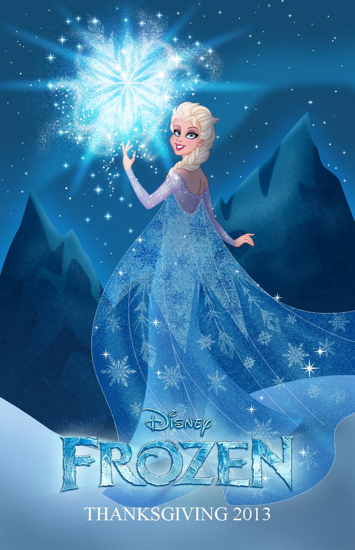 Frozen: Elsa Fan Poster by Cor104