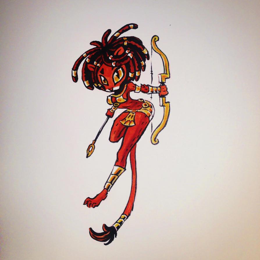 Goddess of the Everlasting Battle by Powerzuul