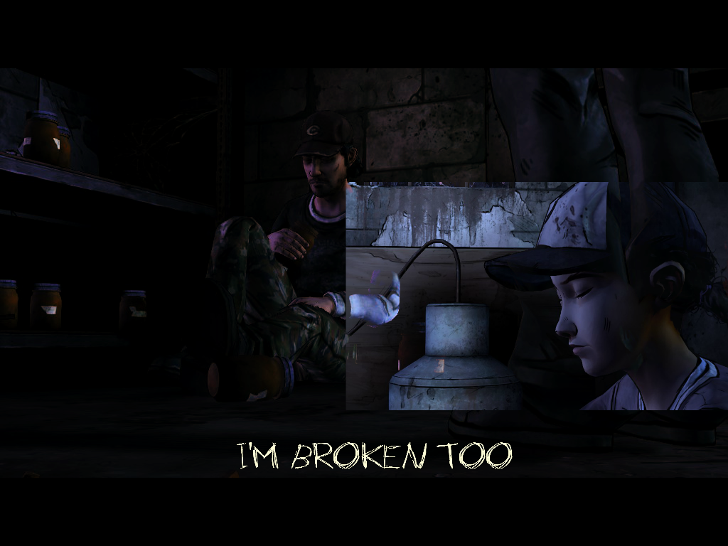 Clementine and Nick I'm broken too by LunaJeanie