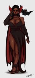 Elizabeth Douglass black eyes blood by SparkieTheArtist