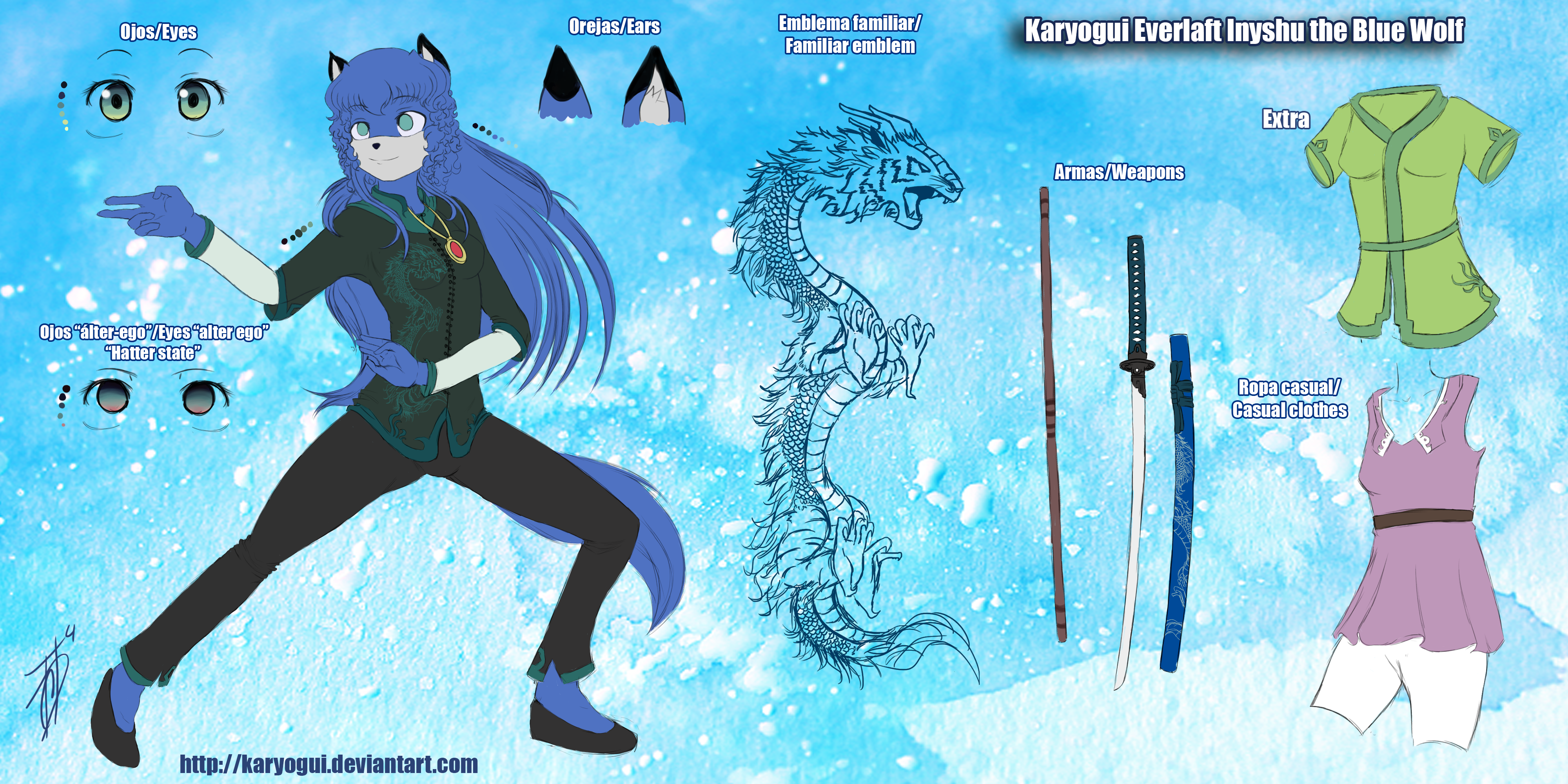 Karyogui Everlaft Inyshu the Blue Wolf by Karyogui