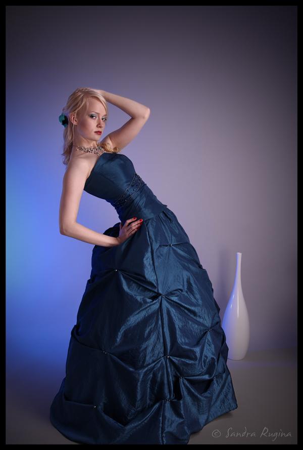 Blue dress by Behindmyblueeyes