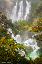 Waterfalls in Plitvice by Behindmyblueeyes
