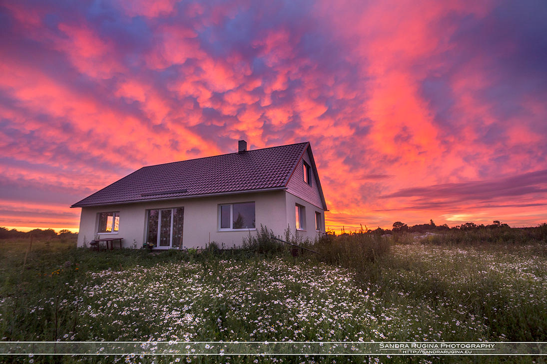 The sunset by Behindmyblueeyes