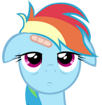 Rainbow Dash bored to death