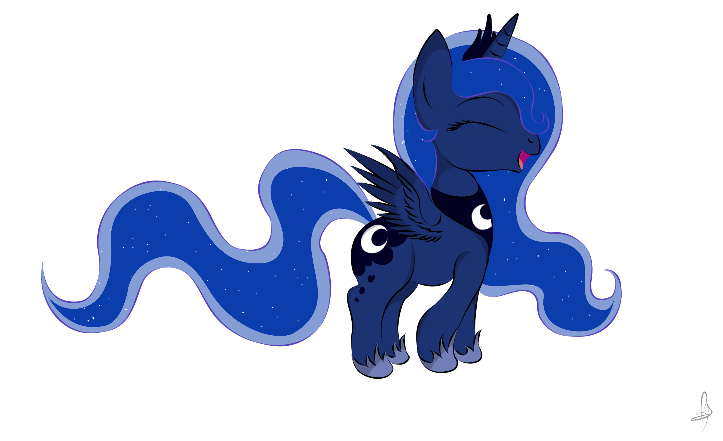 Filly luna demands hugs by V-D-K