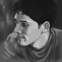 Colin Morgan as Merlin by achelseabee