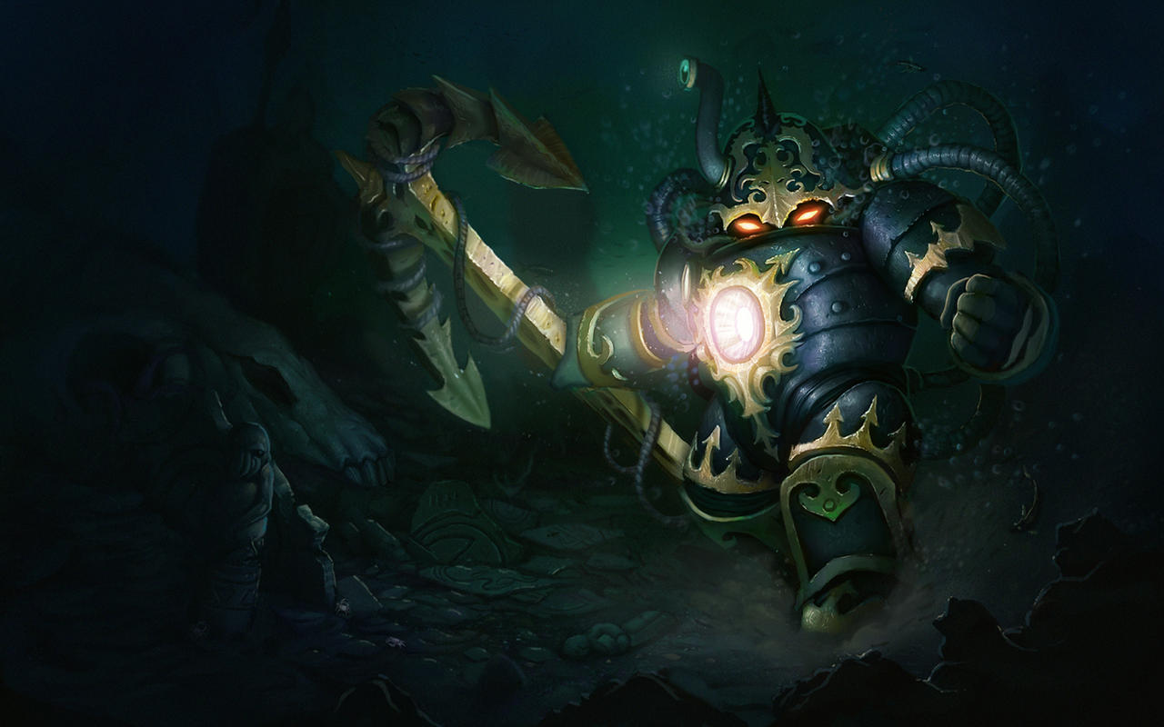Abyssal Nautilus Splash Screen League of Legends by AlexKonstad