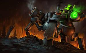 BattleCaster Urgot Splash Screen by AlexKonstad