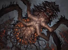 Phyrexian Furnace Strider by AlexKonstad