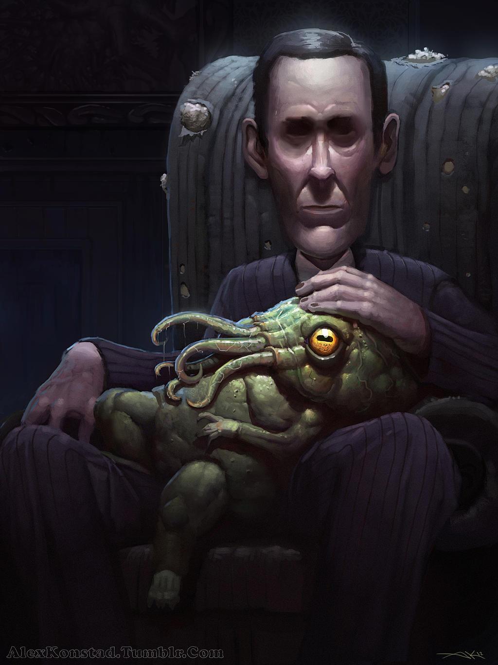 Like Father Like Son: A Portrait of HP Lovecraft by AlexKonstad