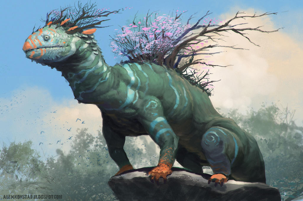 Forest Dragon by AlexKonstad