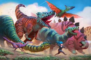 Dinosaur Parade by AlexKonstad
