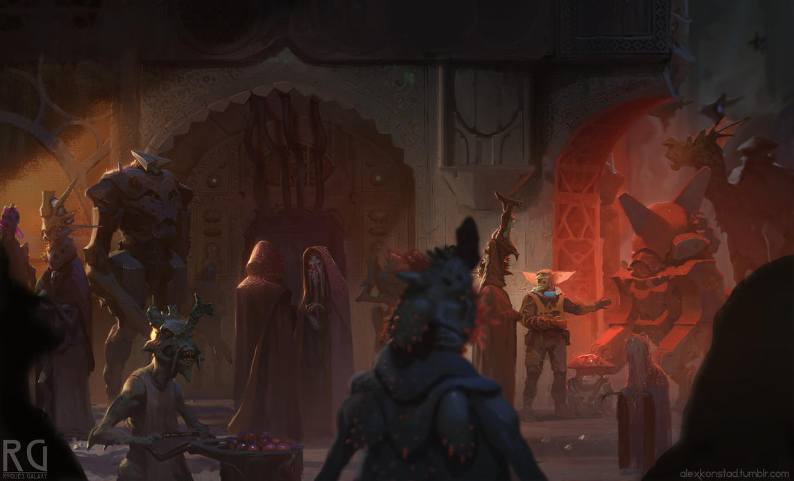 Rogues Galaxy - The crafty merchant by AlexKonstad