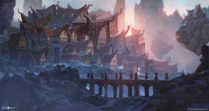 Mountain Top Village by AlexKonstad