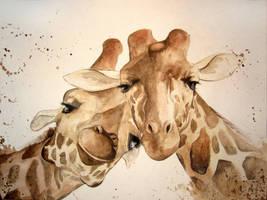 giraffes by monsieur-arlequin