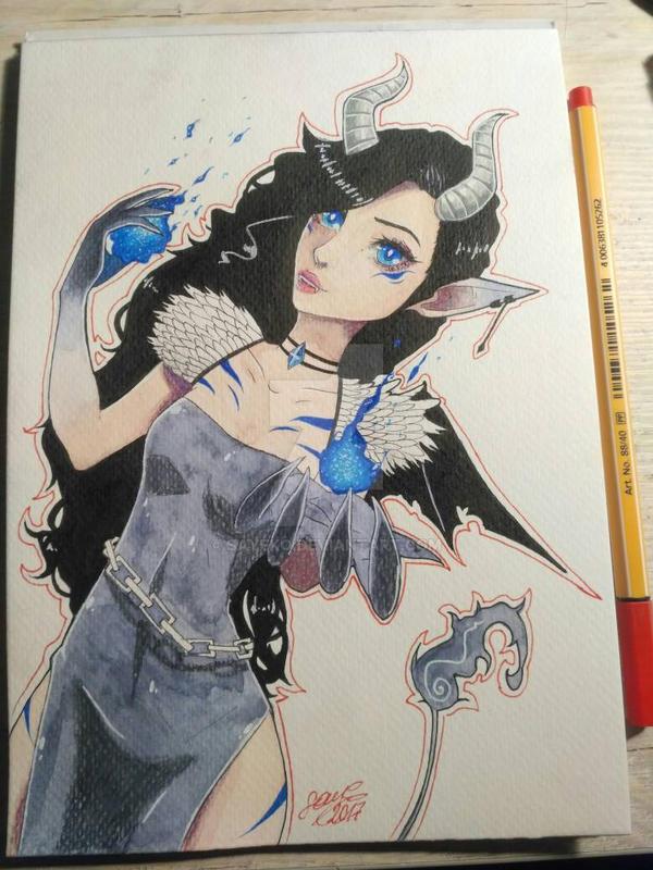 Demon Lady  by sayeko