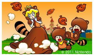 Super Mario 3D Land - Tanooki Peach + Toads