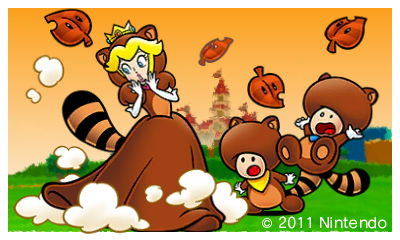 Super Mario 3D Land - Tanooki Peach + Toads by SuperSmash3DS