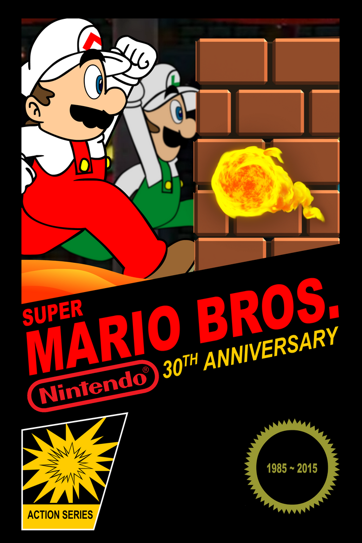 Super mario bros th anniversary poster by supersmash ds