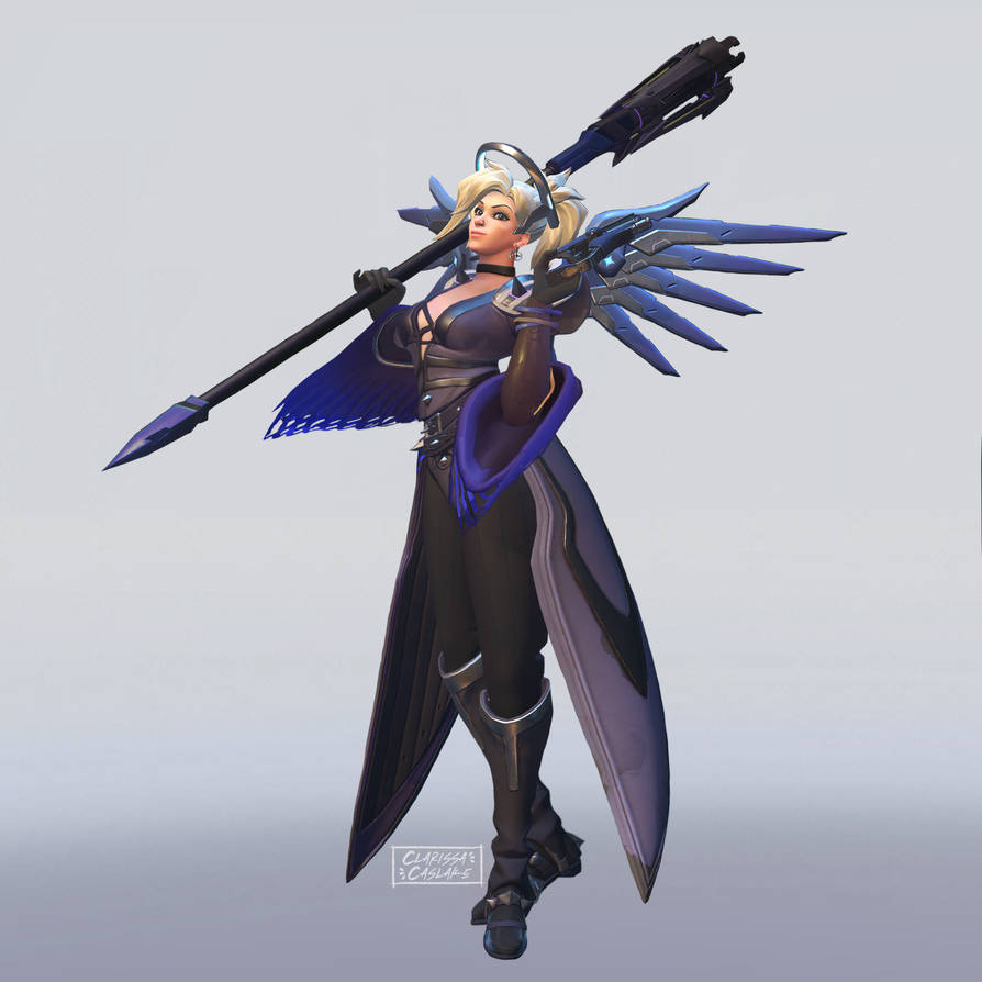 Mercy with Moira's Moon Skin