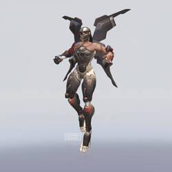 Pharah in Genji's Blackwatch Skin
