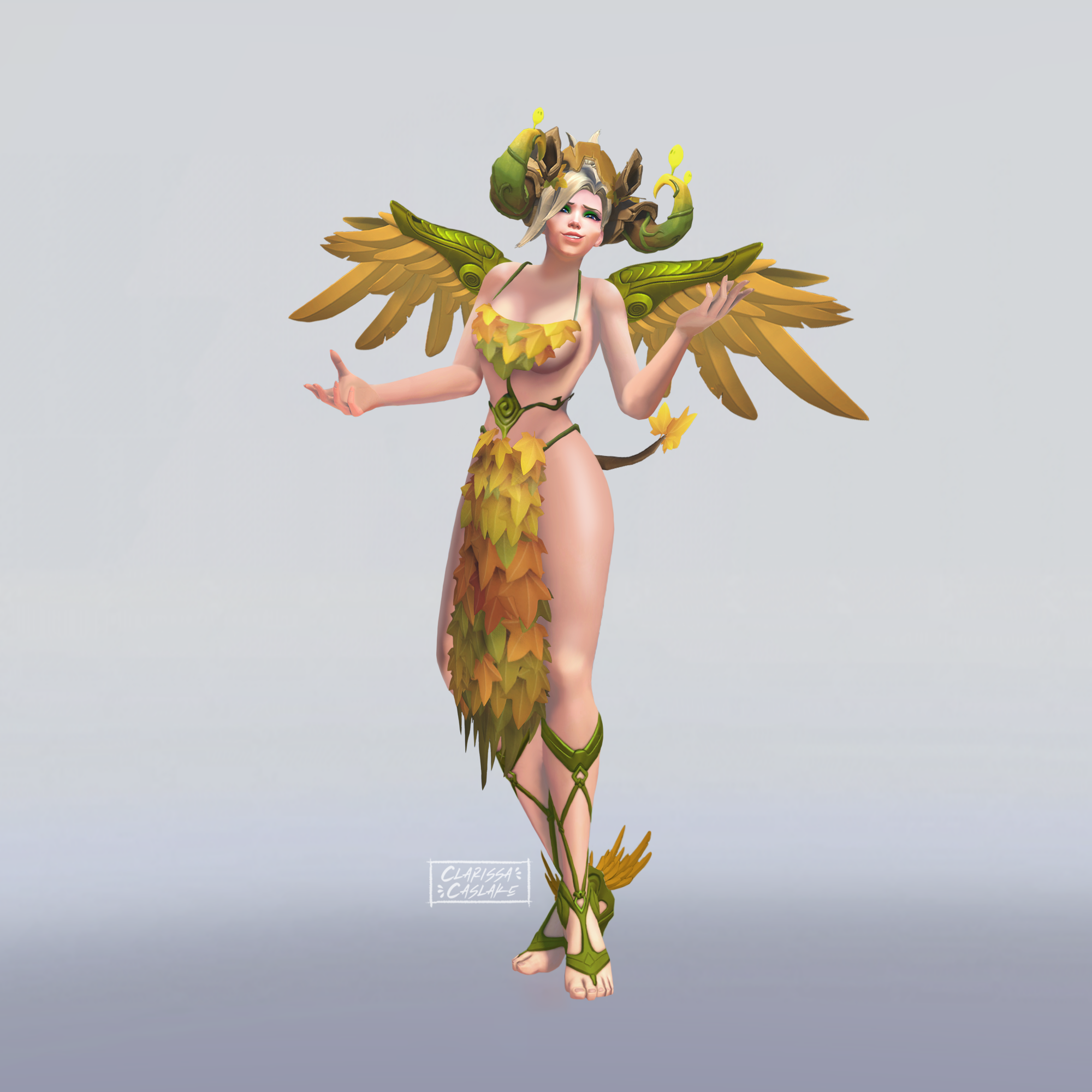 Mercy with Orisa's Forest Spirit Skin