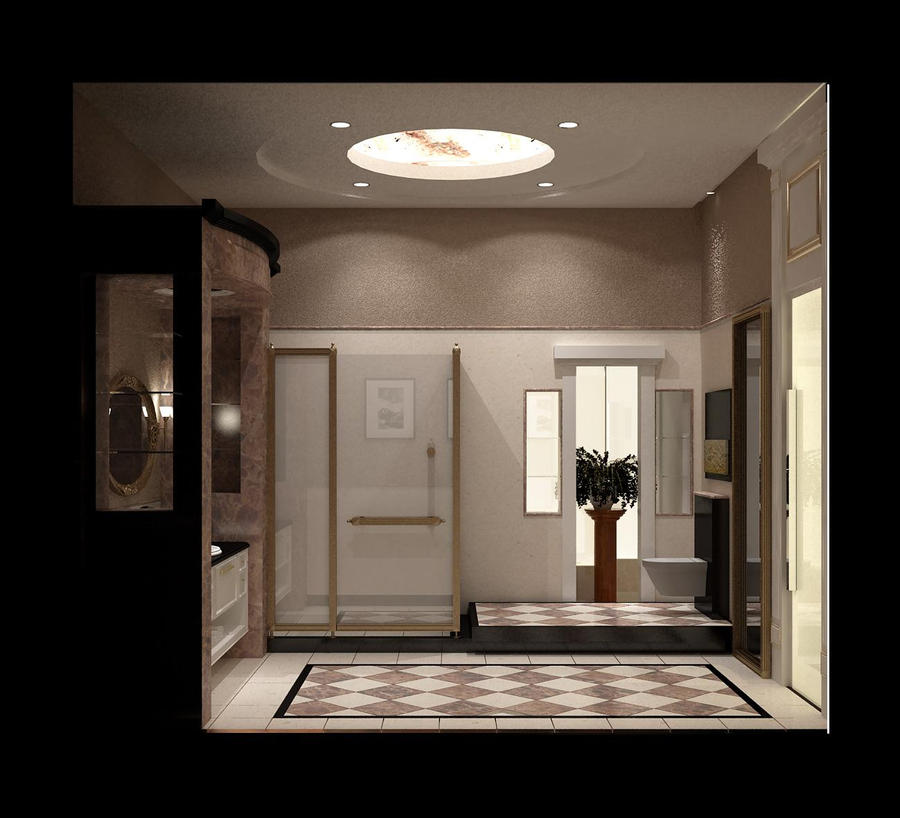 classic contemporary bathrooms modern classic master bathroom by beebeer on deviantart 12338