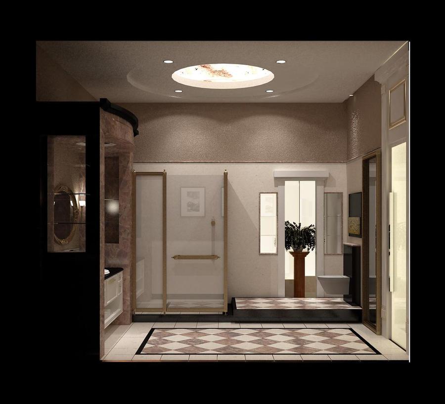 modern classic master bathroom by beebeer on deviantart. Black Bedroom Furniture Sets. Home Design Ideas