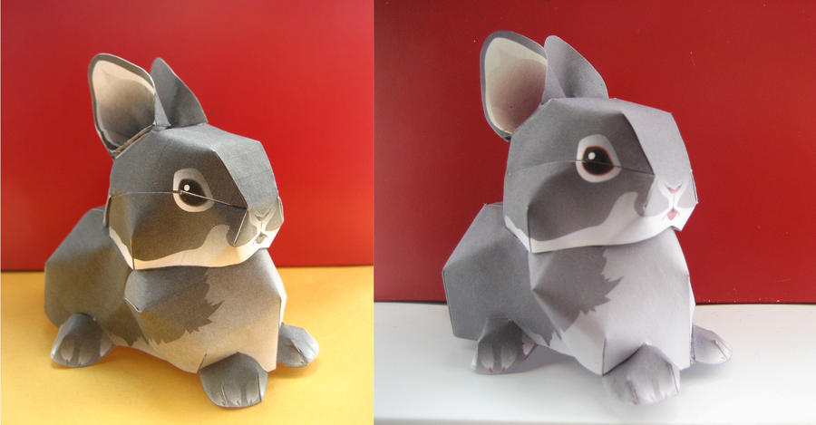 Rabbit PAPERCRAFT by Mee-Lin