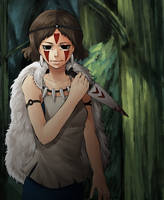 Princess Mononoke by strawberryjamm