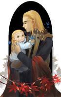 Thranduil and Legolas by tinyyang
