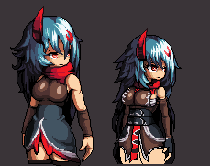 UnFinished Katrina Pixel art by TheWindTunnell