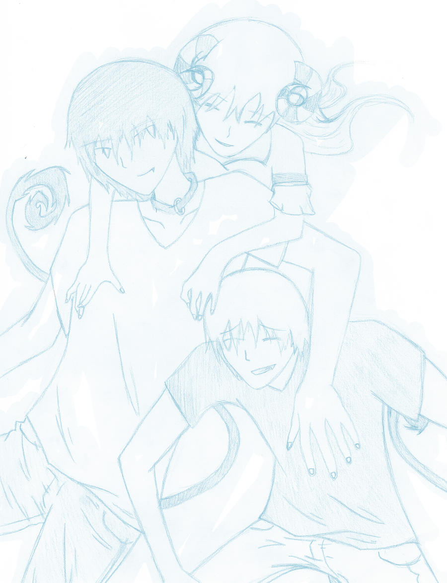 Outrage, Mai, and Outcast WIP by Out-Rage