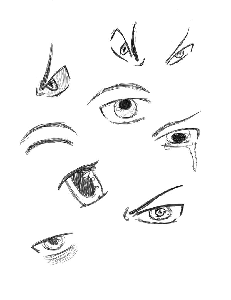 Eye Sketch Dump by Out-Rage
