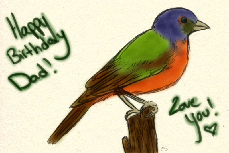 Painted Bunting by Out-Rage