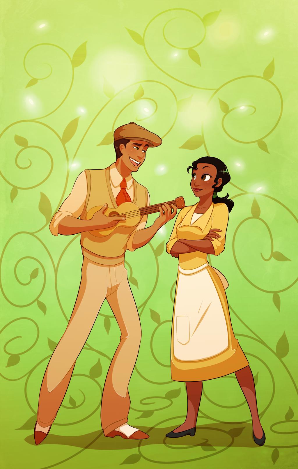 Tiana and Naveen by blackdragonkokoryu on DeviantArt
