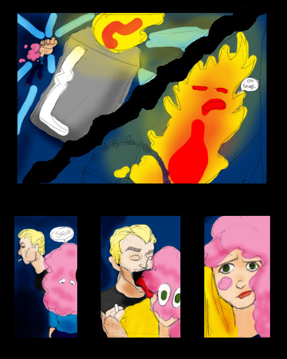 Cotton Candy Monster page four by pluckyantihero