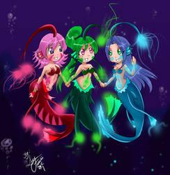 Chibi Mermaids by timing2