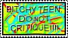 Emo Attention Whore stamp by crocty