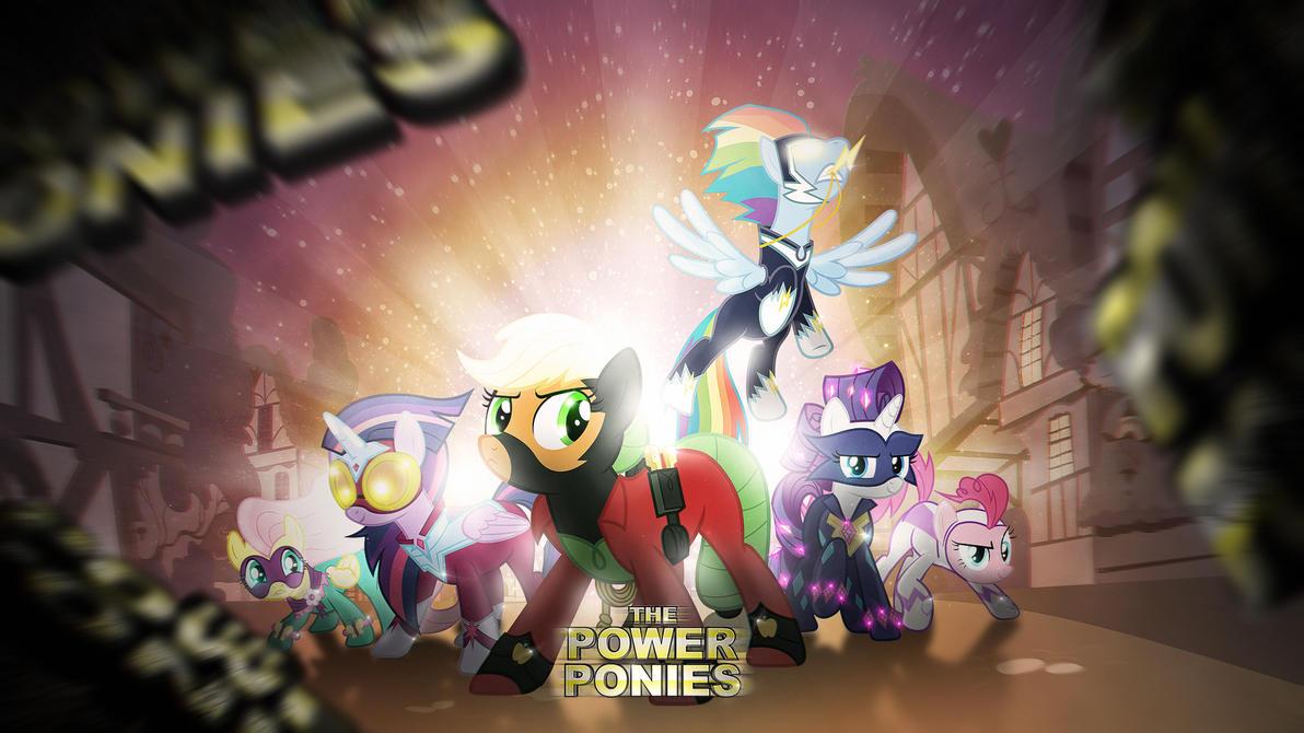 Wallpaper ~ The Power Ponies. by Makkah-Chan
