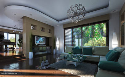 Interior with Atrium by biz-kong