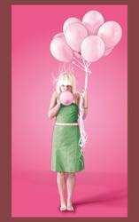 A Dozen Pink Balloons