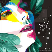 Bjork Homogenic Pop Art by ndop