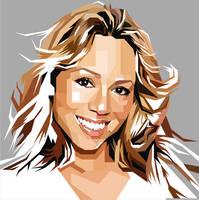Mariah Carey PopArt Monochrome by ndop