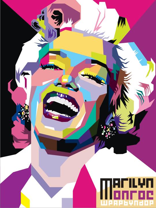 Marilyn Monroe Pop Art by ndop