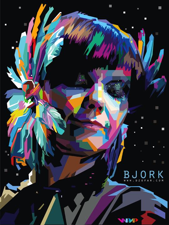 bjork homogenic pop art WPAP