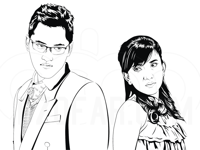 Line Art Wedding : Wedding line art by ndop on deviantart
