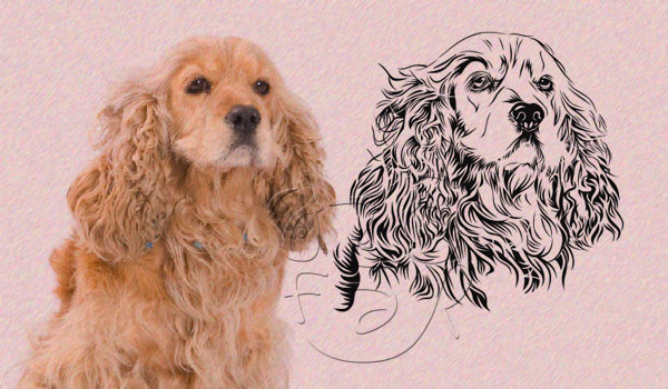 Dog 2 Line art vector by ndop