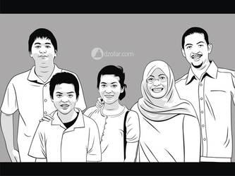 Lineart vector Family